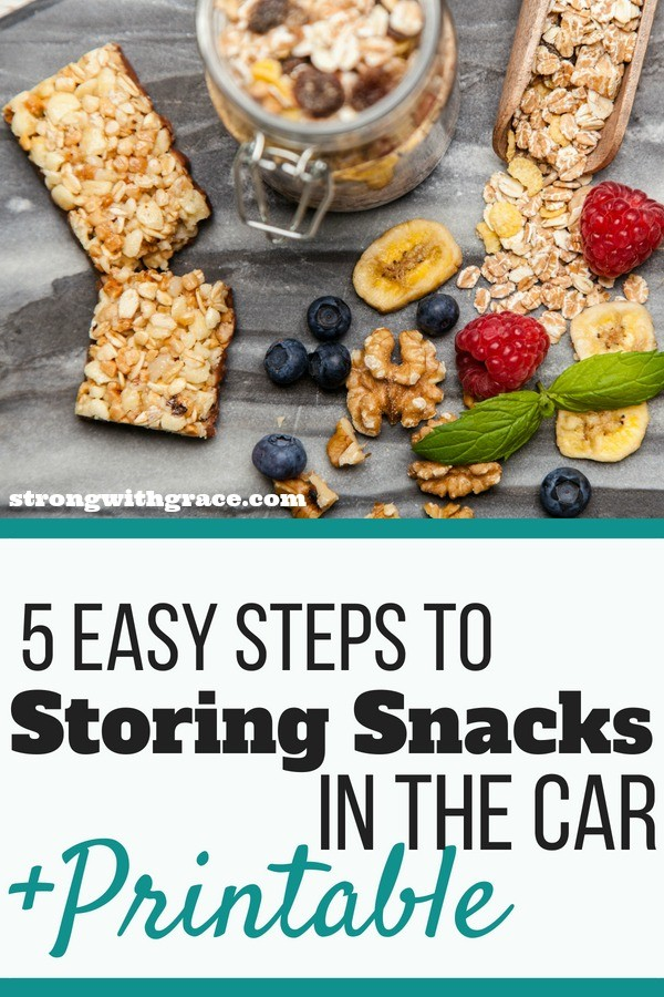 storing snacks in the car