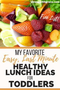 My Favorite Easy (Last Minute) Healthy Lunch Ideas For Toddlers