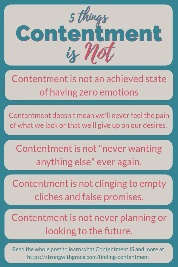 5 Things Contentment Is Not