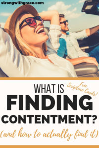 What is Finding Contentment_