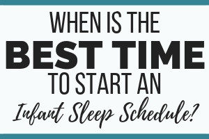 INFANT SLEEP SCHEDULE