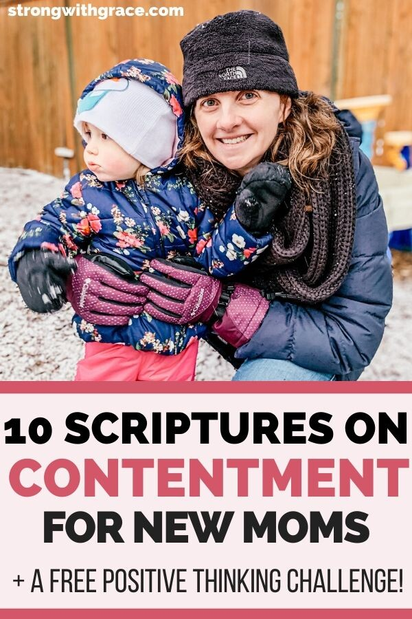 scriptures on contentment | encouragement for new moms