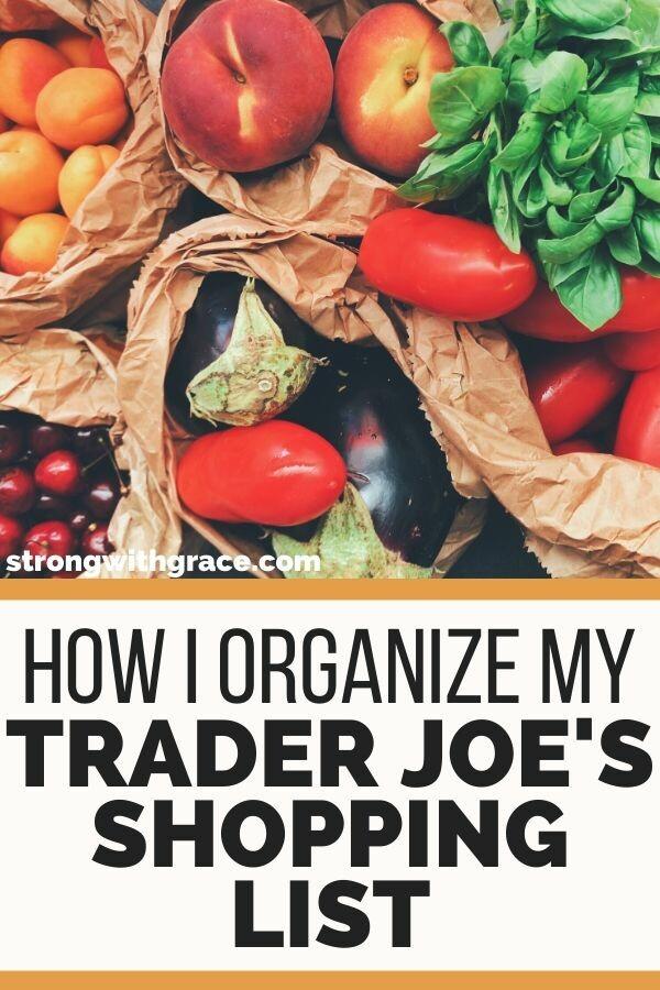 Trader Joes Shopping List