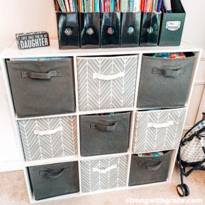 creative storage for your playroom