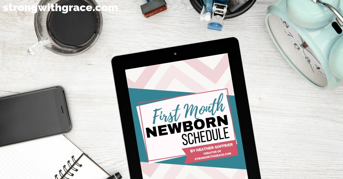 first-month-newborn-schedule-mockup