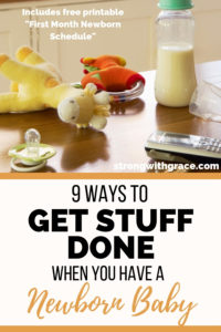 9 Ways To Get Stuff Done When You Have A Newborn