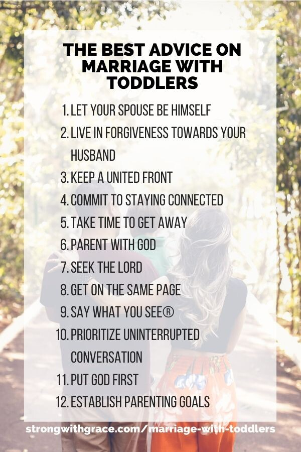 Marriage With Toddlers Tips List
