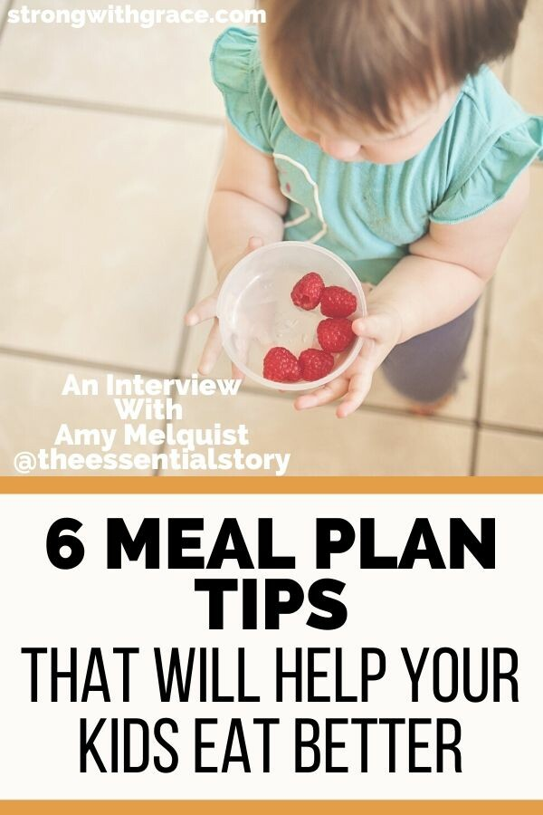 meal planning tips for kids