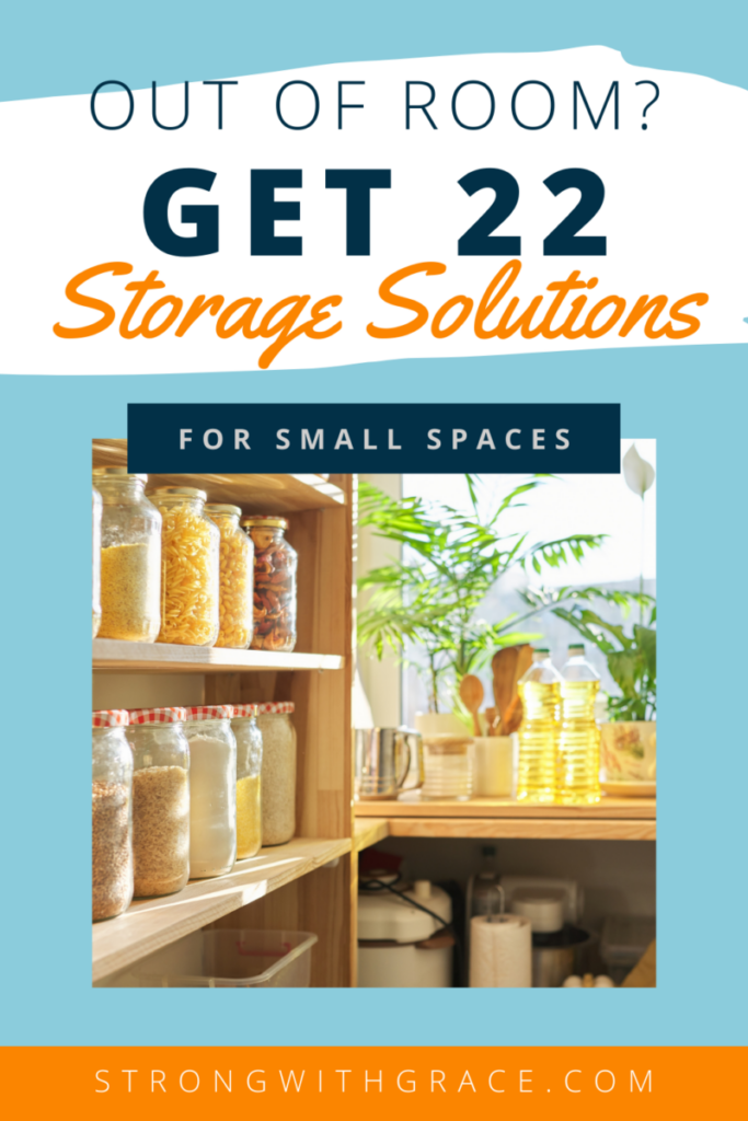 If you don't have a lot of space, get 22 storage solutions for small spaces. You can fit more than you think, and here's how!