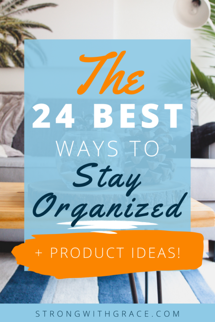 If you're a mom needing some ideas and helpful products to keep your home functioning better, don't miss these 24 ways to be organized.
